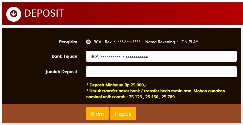 Deposit Togel IDN Live